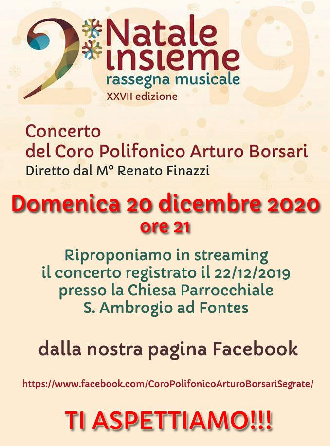 Streaming Concerto di Natale 2019